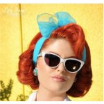 Retro eyewear, jewelry, and scarves