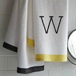 Monogrammed bath and hand towels