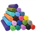A rainbow of yoga mat color choices