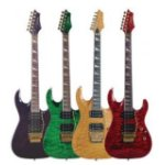 Wide selection of guitars