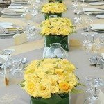 Fresh wedding reception flowers