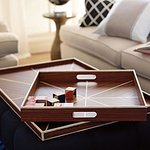 Sleek teak trays make for great gifts