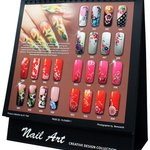 Nail art designs and displays