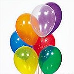 Party balloons, favors and supplies