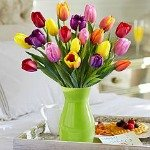 Cheeful tulips to say thank you