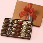 Delicious chocolate assortments