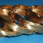 Gold, silver, copper and colored wire
