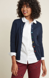 Rainbow button cardigan Modcloth