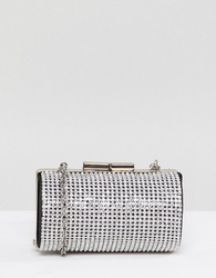 ASOS DESIGN diamonte micro clutch bag with detachable strap