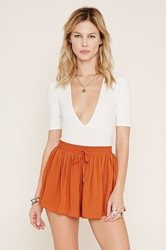 Drawstring High-Waisted Shorts Forever 21 2000153516