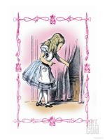 Alice in Wonderland: Alice Tries the Golden Key Premium Poster by John Tenniel