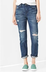 Mid-rise real straight skimmer jeans