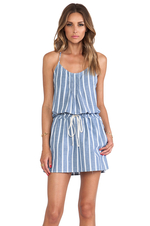 Wide Stripe Chambray Sundress
