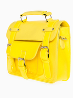 Neon Three Strap Satchel in Yellow