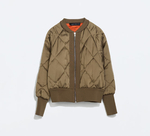 Short Padded Bomber Jacket