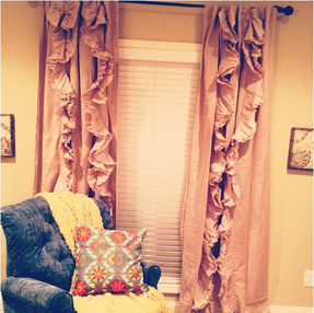 LOVING my new window treatments!