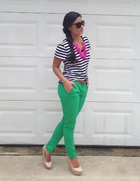 Summer Prep: Stripes & Pops of Color
