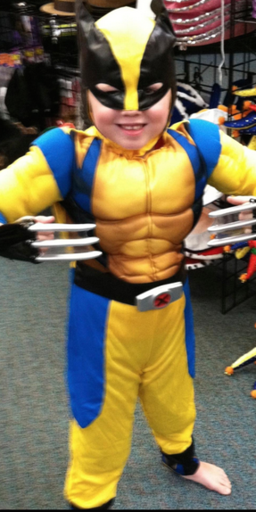 Last year, he was WOLVERINE!