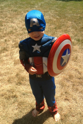 Mommy, Captain America can smile right?